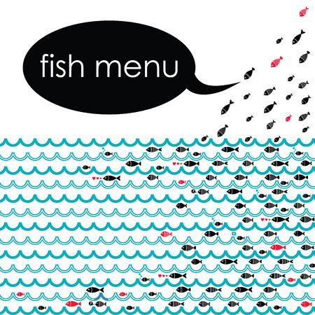 Vettore sfondo ideale per il menu dei vostri ristoranti di pesce. Archivio Fotografico - 46021087
