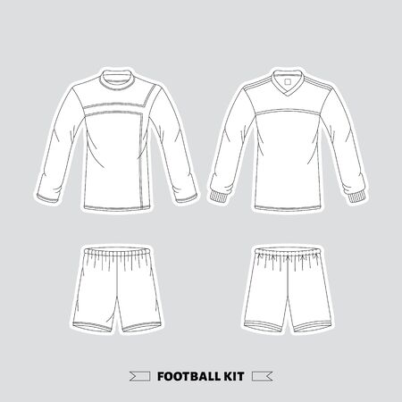 manchester: Footbal kit made in vector, easy  editable.