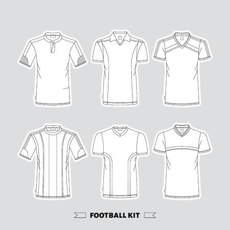 footbal: Footbal kit made in vector, easy  editable.