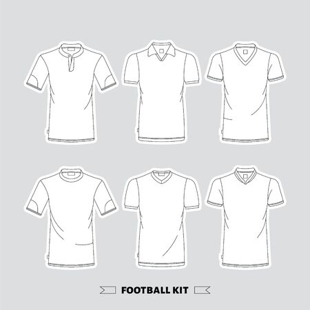 men shirt: Mens t-shirt, front and back, made in vector, easy to editable. Illustration