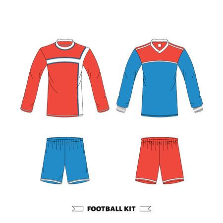 footbal: Footbal kit made in vector, easy editable. Illustration