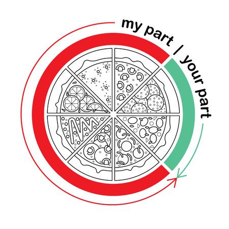 foodstuffs: Flat vector set of fast food. Easy recolor,