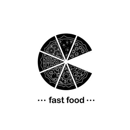 cream cheese: Perfect poster about fast food - pizza