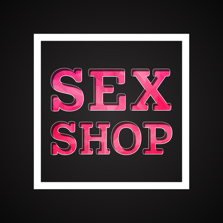sex shop: sex shop icon  made by mixing styles flat  and lowpoly