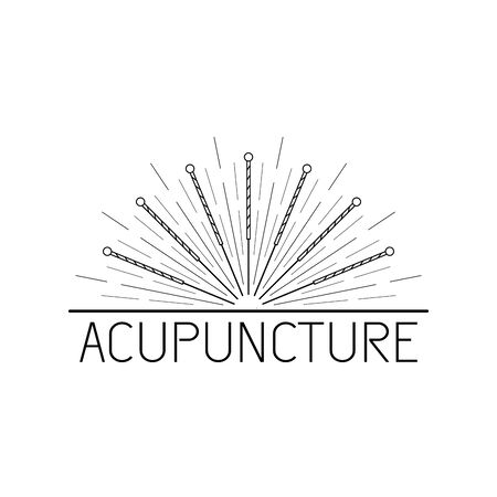 Vector dedicated to traditional Chinese medicine, acupuncture. a method of stimulation of certain points on the body with needles