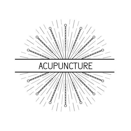 chinese medicine: Vector dedicated to traditional Chinese medicine, acupuncture. a method of stimulation of certain points on the body with needles