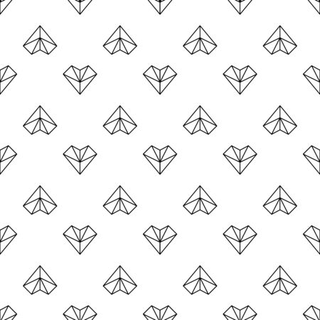 decorative items: Decorative items heart pattern for Valentines Day, to design greeting cards, invitations, made in a linear style Illustration