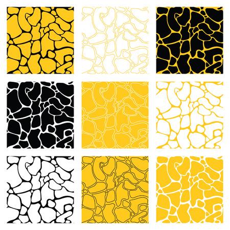 giraffe skin: Set of afrcan animal tilesize print. Highly detailed giraffe skin pack. Easy recolor.