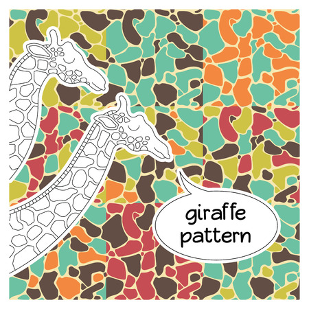 camoflage: Seamless giraffe fur pattern. African animal seamless print. Illustration