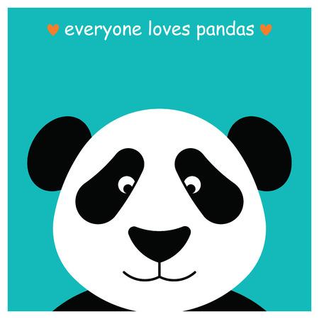panda bear: Simple image of panda face.