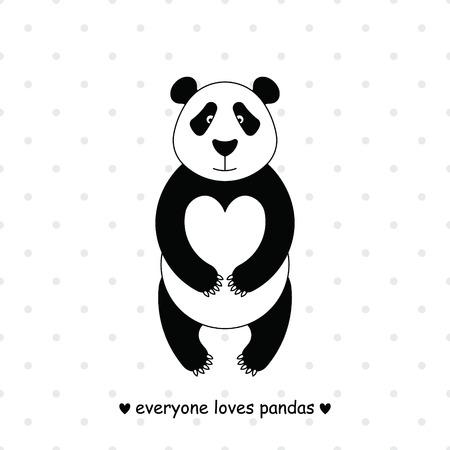 panda cartoon: Simple image of panda.