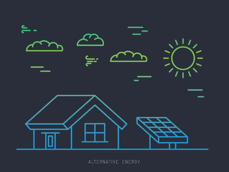 alternative energy sources: Alternative energy. Alternative energy concept. Solar energy. Solar panels. The installation of solar panels.