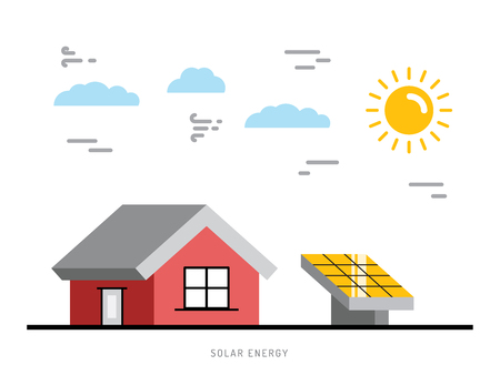 panels: Alternative energy. Alternative energy concept. Solar energy. Solar panels. The installation of solar panels.