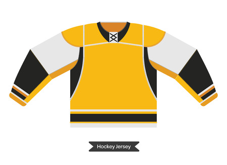 playoff: Hockey uniform in vector. Vector hockey sweater. Isolated hockey jersey. Ice hockey sweater in flat style. Illustration