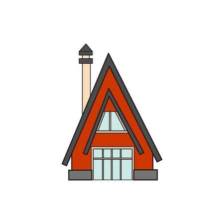 Illustration Haus Buchstaben-Alphabet. Larning das Alphabet und buchstäblich im Kindergarten. Brief isoliert. Der Buchstabe A