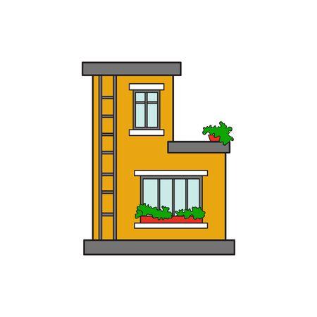 Illustration house letter alphabet. Larning the alphabet and literally in kindergarten. Letter isolated. The letter B
