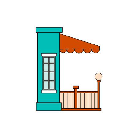 majuscule: Illustration house letter alphabet. Larning the alphabet and literally in kindergarten. Letter isolated. The letter C