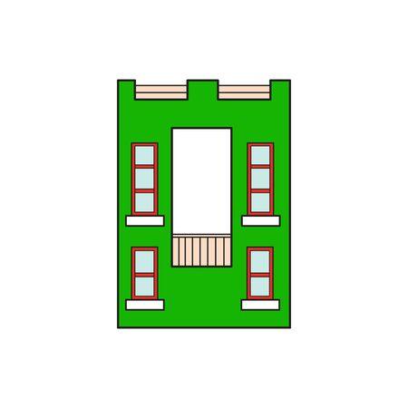 majuscule: Illustration house letter alphabet. Larning the alphabet and literally in kindergarten. Letter isolated. The letter O