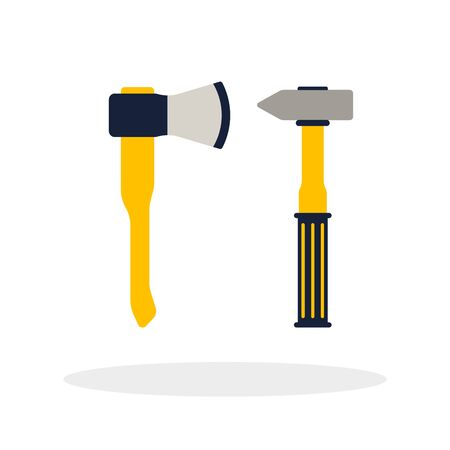 do it yourself: Do it yourself, construction repair tools.  Isolated tools flat. Home renovation and construction concept with DIY tools.