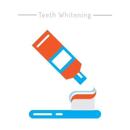 higiene oral: Los elementos utilizados para la higiene bucal. Los dientes de limpieza iconos conjunto contorno.