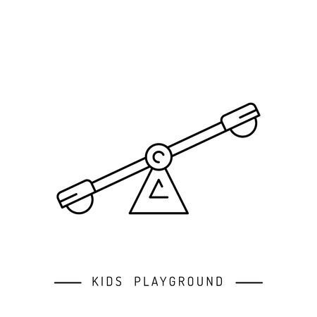 yard: Baby swings, outdoor childrens Playground. swing which can be put in the yard. Illustration
