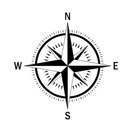 Compás del vector. geo vector marcan Rosa de los Vientos. brújula vector aislados. Rosa de los vientos en el estilo lineal. Imagen de la brújula para el Día de Colón. Vector eólica marina se levantó para el recorrido, diseño de navegación. Ilustración de vector