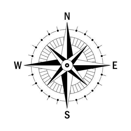boussole Vector. geo Vector marque Wind Rose. boussole vecteur isolé. Rose Vent dans le style linéaire. Image de Compass pour Columbus Day. Vector wind marine rose pour Voyage, la conception de navigation.