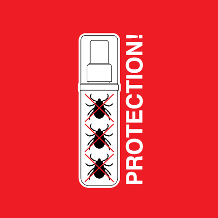 entomologist: Vector insect tick protector. Dangerous tick parasite. Vector mite beetle. Tick protection icon isolated. Vector tick bug prevention.  Ticks protection. Mite skin parasite.