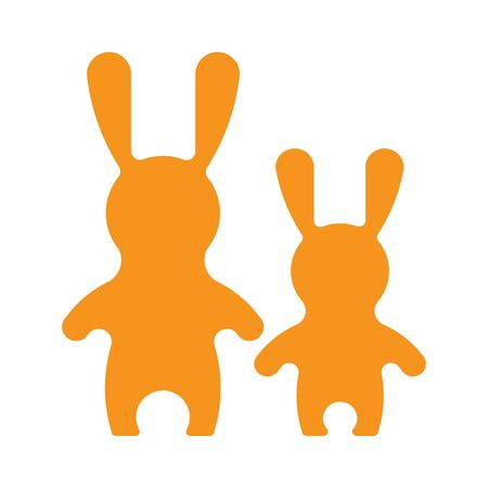 vitamine: Vectorr rabbit illustration. Adorable hare family in flat style. Vector hare icon. Bunny cartoon flat style icons. Illustration