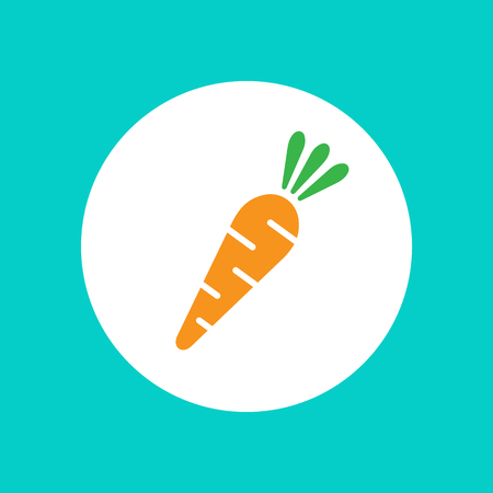 veg: Carrot vector icon. Carrot icon isolated on white background.  Veg icon illustration. Carrot, vegetable, food, vector flat style