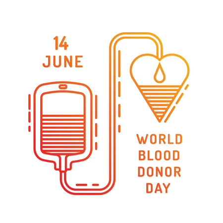 blood drops: Medical concept on world blood donor day on June 14. Blood donation vector illustration.
