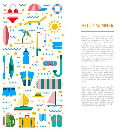 bateau voile: Icons set pour les vacances d'été et Voyage. Éléments sur le thème de l'été, Voyage, trekking, vacances, week-end vacances à la plage.