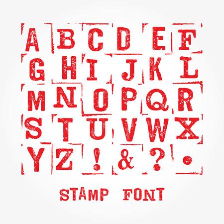 latin alphabet: Hand made letterpressed font. Retro textured grunge alphabet with scratches. Vector latin alphabet.  Vector isolated font on white. Imprint font letters. Vector stamp texture.  Stamp isolated font.