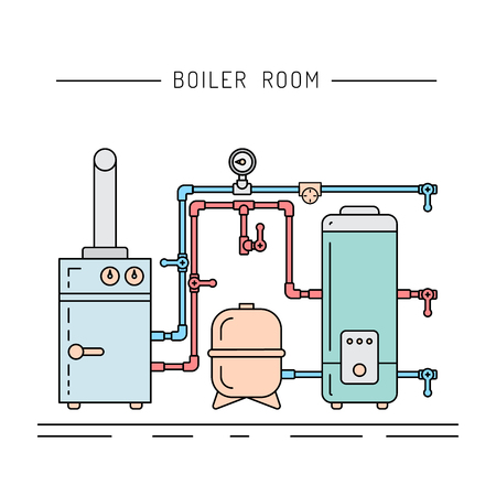 The Set Of Items Of Equipment For Boiler Rooms And Heating In ...