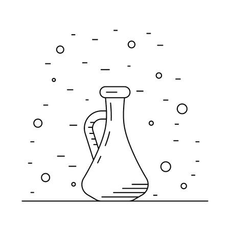 cruet: A set of bottles decanters made of glass
