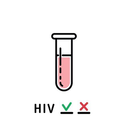saliva: Plastic tube for analysis of biological materials, blood, saliva.