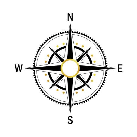 brújula vector aislados. geo vector marcan Rosa de los Vientos. Rosa de los vientos en el estilo lineal. Imagen de la brújula para el Día de Colón. Vector eólica marina se levantó para el recorrido, diseño de navegación. Vectores