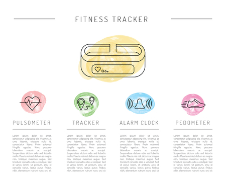 wearable electronics gadget fitness or activity tracker bracelet