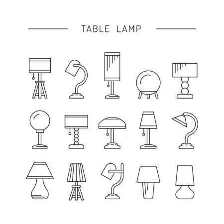The set of elements of lighting design table lamps of various 62360877 the set of elements of lighting design table lamps of various types and sizes for use in bedrooms offices living rooms kids room aloadofball Images