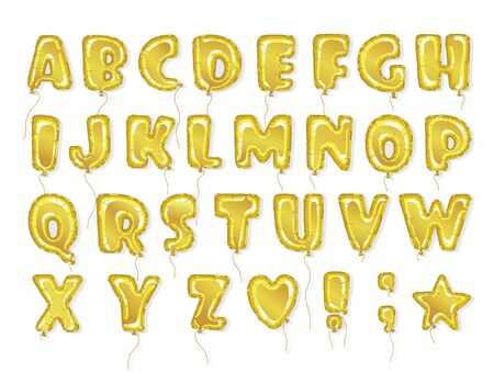 typesetting: Hand drawn balloon alphabet. Perfect letters design for festive posters and postcards. Vector baby shower balloon font.