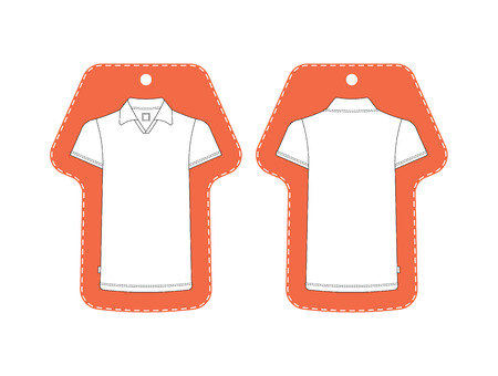 T-shirt Tag Template Front, Back View. T-shirt Tag Isolated On ...