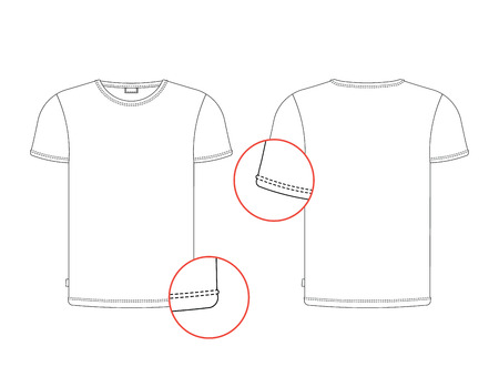 Vector T-shirt Tag Template Front, Back View. Vector T-shirt ...