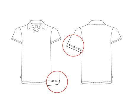 Vector T-Shirt-Vorlage Vorne, Hinten. Vector T-Shirt Auf Weißem ...