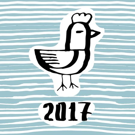 The symbol of the coming new year 2017 the rooster. The emblem of the Chinese new year animal cock
