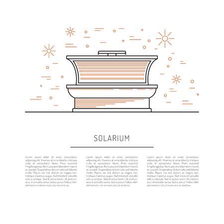 solarium: Equipment for tanning studios and beauty salons Solarium, tanning bed. Illustration