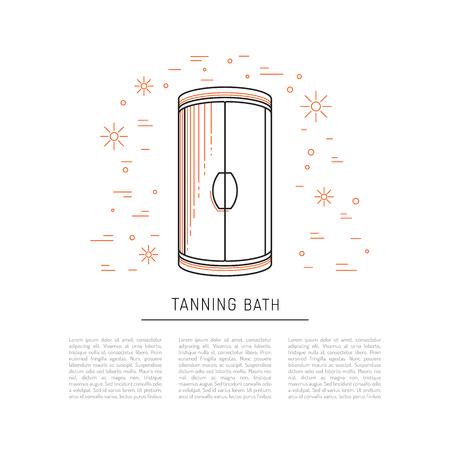 sunburn: Equipment for tanning studios and beauty salons Solarium, tanning bed. Stock Photo