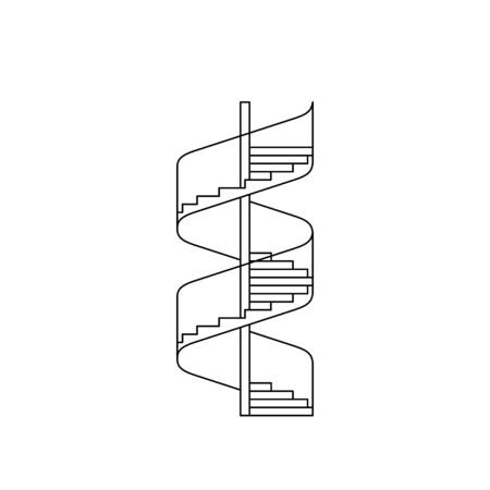staircase image in a linear fashion Stock Photo