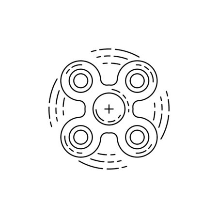 spare: Hand spinner vector in a flat outline style. Toy for developing fine motor skills and relieving stress