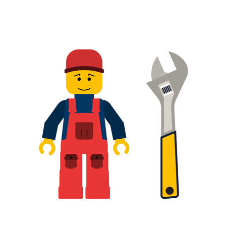 Doe het zelf, bouw reparatie tools plat. Gereedschap inbussleutel. Geïsoleerde allen moersleutelhulpmiddelen vlak. DIY-hulpmiddelen.