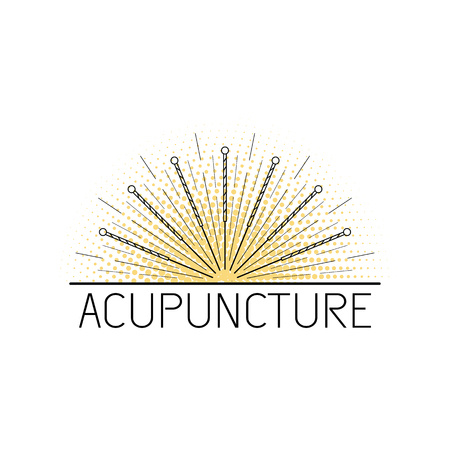 A Vector dedicated to traditional Chinese medicine, acupuncture. a method of stimulation of certain points on the body with needles. Alternative medicine Vectores